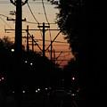 Street Car Sunset by James Foshee