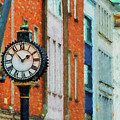 Street Clock In Cork by Les Palenik