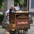 Street Entertainer In Bruges Belgium by Louise Heusinkveld