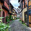 Street In Eguisheim, Alsace, France by Elenarts - Elena Duvernay photo