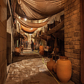 Street In Gothic District Of Barcelona At Night by Artur Bogacki