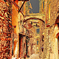 Street In Old Town. by Adriano Bussi