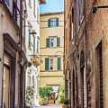 street in old town Lucca, Italy by Ariadna De Raadt
