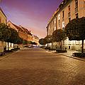 Street In Ostrow Tumski By Night In Wroclaw by Artur Bogacki