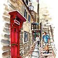 Street In Robin Hoods Bay 01 by Miki De Goodaboom