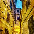 Street In Vernazza - Vintage Version by Weston Westmoreland