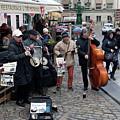 Street Jazz Band In Prague by Aivar Mikko