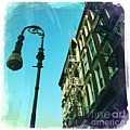 Street Lamp And Fire Escape by Nina Prommer