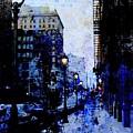 Street Lamps Sidewalk Abstract by Anita Burgermeister