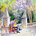 Street Musician In Pollenca by Miki De Goodaboom