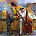 Street Musicians In Prague In The Czech Republic 01 by Miki De Goodaboom