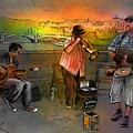 Street Musicians In Prague In The Czech Republic 03 by Miki De Goodaboom