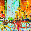 Street Of Amsterdam - Four Girls by Mathias