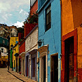 Street Of Color Guanajuato 3 by Mexicolors Art Photography