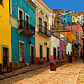 Street Of Color Guanajuato 4 by Mexicolors Art Photography