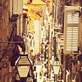 Street Of Dubrovnik Old Town by Sandra Rugina