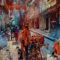 Street Of Nepal Colored  by Gull G