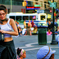 Street Photography Nyc Paint  by Chuck Kuhn