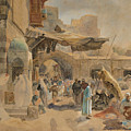 Street Scene In Jaffa by Gustav Bauernfeind