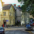 Street Scene In Strangnas by Barry King