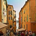 Street Scene In Villefranche by Steven Sparks
