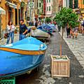 Street Scene Manarola Italy Dsc02634 by Greg Kluempers