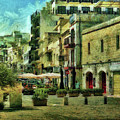 Street Scene Mellieha Malta by Leigh Kemp