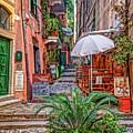 Street Scene Monterosso Italy Dsc02470 by Greg Kluempers