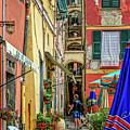 Street Scene Vernazza Italy Dsc02651 by Greg Kluempers