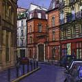 Street View Of Paris by Mary Koenig Godfrey