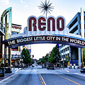 Street View Of Reno Sign by Joe Lach