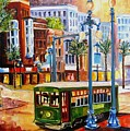 Streetcar On Canal Street by Diane Millsap