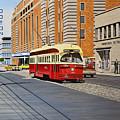 Streetcar On Carlton Circa 1970 by Kenneth M  Kirsch