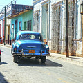 Streetlife With Car In Trinidad, Cuba by Patricia Hofmeester