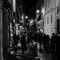 Streets Of Rome At Night  by Andrea Mazzocchetti