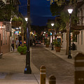 Streets Of St. Augustine At Night by Eduardo Marquez
