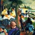Streetside Cafe by Bob Dornberg