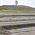 Striped Bank On Side Of A Road In Northwest North Dakota by Ruth Hager
