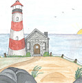 Striped Lighthouse by Sea Sons Home and Life