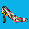 Striped Pump Shoe by Hillary James