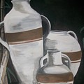 Striped Water Jars by Trudy-Ann Johnson