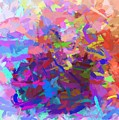 Strips Of Pretty Colors Abstract by Debra Lynch