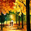 Stroll In The Forest by Leonid Afremov