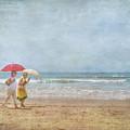 Strolling On The Beach by David Zanzinger