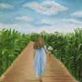 Strolling Through The Cornfield by Angeles M Pomata