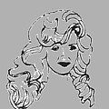 Strong Woman In Black White by Sheri Buchheit