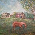 Stroudwater Farm-with Horse by Joseph Sandora Jr