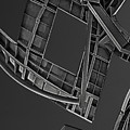 Structure - Center For Brain Health - Las Vegas - Black And White by Mitch Spence
