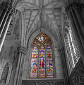 Structures Of St. Patrick Cathedral Bw by Jonathan Nguyen
