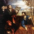 Sts John And Bartholomew With Donors 1527 by Dossi Dosso